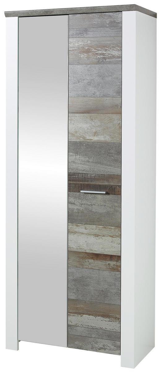 GARDEROBENSCHRANK - Chromfarben/Braun, Trend, Holzwerkstoff/Kunststoff (80/198/39cm) - Xora