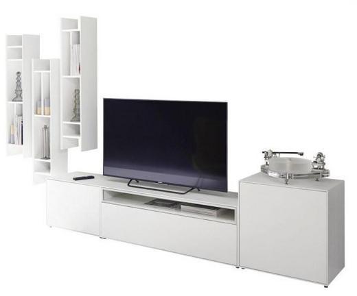 WOHNWAND Weiß - Weiß, Design (333/199/44,8cm) - Hülsta - Now