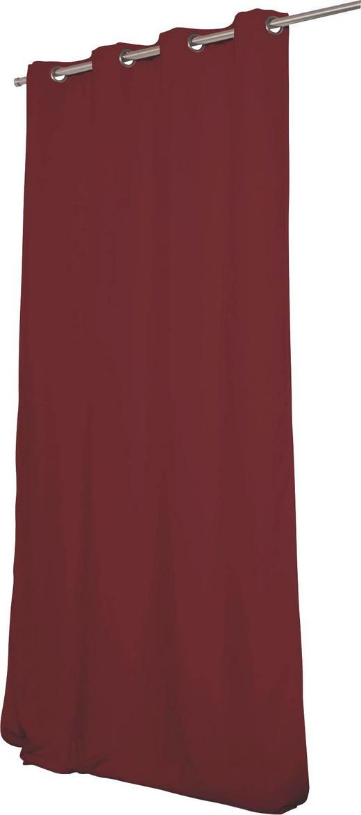 WÄRMESCHUTZVORHANG  Verdunkelung  145/260 cm - Dunkelrot, Textil/Metall (145/260cm)