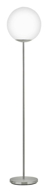 LED-GOLVLAMPA - vit, Design, metall/glas (20/160cm) - Novel