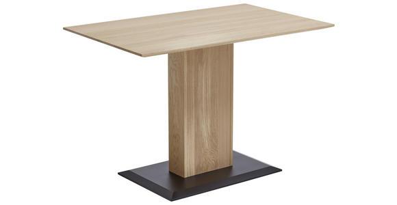 ECKBANKGRUPPE Flachgewebe Eiche Hartholz Grau, Eichefarben  - Eichefarben/Grau, KONVENTIONELL, Holz/Textil (172/132cm) - Venda