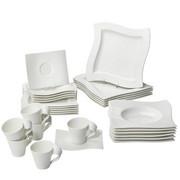 Porzellan  KOMBISERVICE 30-teilig   - Weiß, Basics, Keramik - Villeroy & Boch