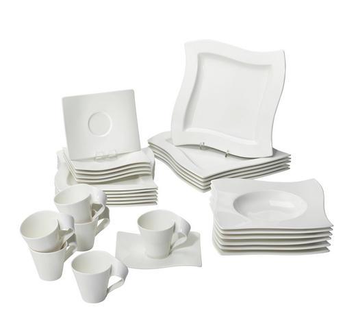 KOMBISERVICE 30-teilig - Weiß, Design, Keramik - Villeroy & Boch