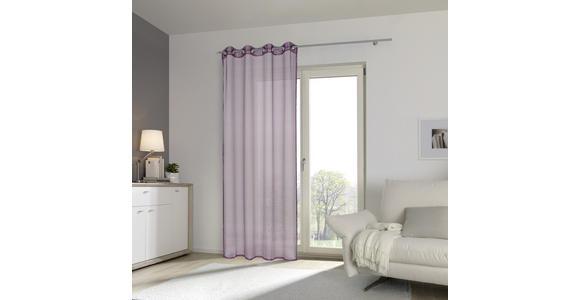 ÖSENVORHANG transparent  - Lila, KONVENTIONELL, Textil (140/245cm) - Esposa