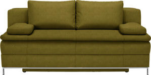 BOXSPRINGSOFA in Textil Gelb, Goldfarben  - Chromfarben/Gelb, Design, Textil/Metall (200/93/107cm) - Novel