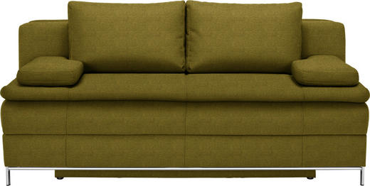 BOXSPRINGSOFA in Textil Gelb, Goldfarben - Chromfarben/Gelb, Design, Textil/Metall (200/93/107cm) - Novel