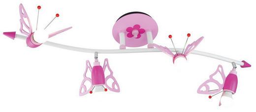 KINDERDECKENLEUCHTE - Pink/Rosa, KONVENTIONELL, Holz/Kunststoff (100/25/25cm)