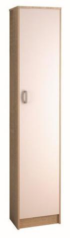 ORMAR - bijela/boje aluminija, Design, staklo/drvni materijal (40/189/27,5cm) - BOXXX
