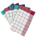 GESCHIRRTUCH-SET 5-teilig Blau, Grün, Rot, Weiß - Blau/Rot, KONVENTIONELL, Textil (50/70cm) - Boxxx