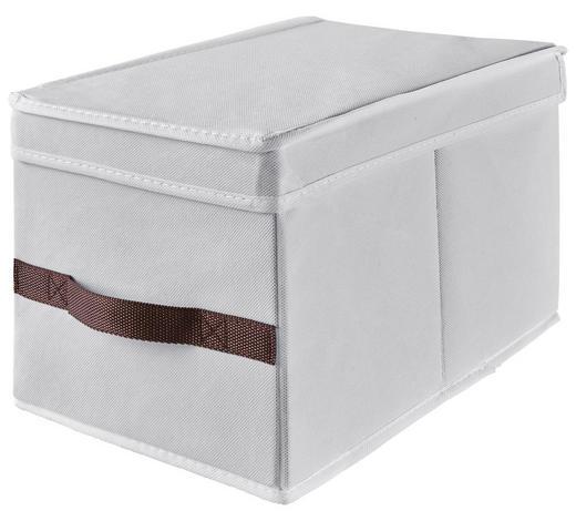 ŠKATLA S POKROVOM K808717005 - bela/rjava, Konvencionalno, papir/tekstil (50/24/38cm)