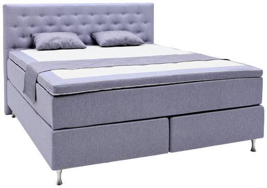 BOXSPRINGBETT 160/200 cm  in Violett - Violett/Alufarben, KONVENTIONELL, Holzwerkstoff/Textil (160/200cm) - Elegando