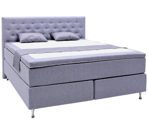 BOXSPRINGBETT 180/200 cm  in Violett  - Violett/Alufarben, KONVENTIONELL, Holzwerkstoff/Textil (180/200cm) - Elegando