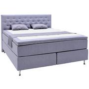 KONTINENTALSÄNG - alufärgad/blå, Design, träbaserade material/textil (180/200cm) - ELEGANDO