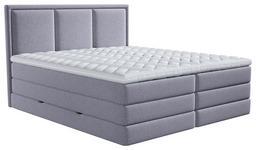BOXSPRINGBETT 180/200 cm  in Grau  - Grau, Design, Kunststoff/Textil (180/200cm) - Xora