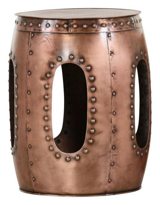 BEISTELLTISCH Kupferfarben - Kupferfarben, Design, Metall (37/51cm) - Carryhome