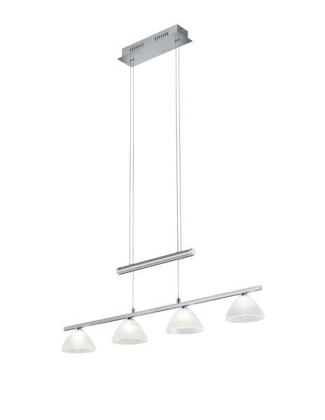 LED-HÄNGELEUCHTE - Nickelfarben, KONVENTIONELL, Metall (88/150cm)