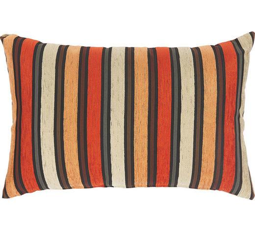 POLŠTÁŘ OZDOBNÝ, 40/60 cm, krémová, oranžová, červená - oranžová/krémová, Design, textil (40/60cm) - Novel
