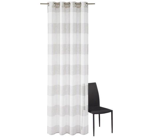 ÖSENSCHAL  halbtransparent  140/245 cm   - Taupe/Weiß, KONVENTIONELL, Textil (140/245cm) - Esposa