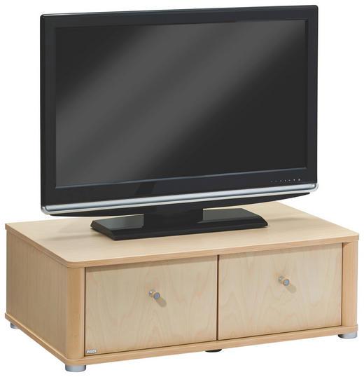 TV-ELEMENT Birke furniert Birkefarben - Birkefarben/Silberfarben, Design, Holz/Kunststoff (93,3/31,4/57,3cm) - Paidi