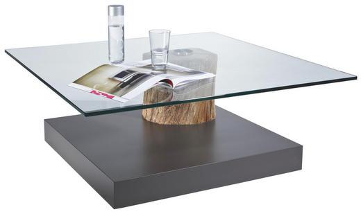 COUCHTISCH Altholz massiv quadratisch Dunkelgrau - Dunkelgrau, Design, Glas/Holz (100/39/100cm) - Venjakob
