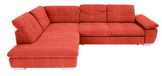 WOHNLANDSCHAFT in Textil Orange  - Chromfarben/Orange, Design, Textil (242/313cm) - Xora
