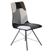 STOL, kovina, tekstil bela, črna - črna/bela, Design, kovina/tekstil (46/95/61cm) - Novel