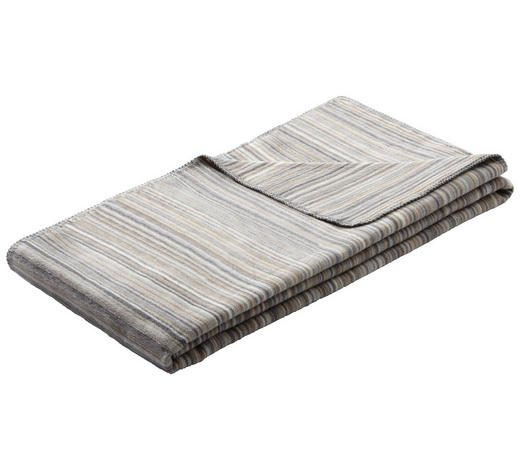 DOMÁCÍ DEKA, 140/200 cm, hnědá, šedá - šedá/hnědá, Konvenční, textil (140/200cm) - Bio:Vio