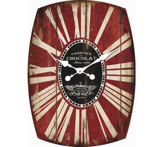 WANDUHR  Rot, Schwarz, Weiß - Rot/Schwarz, Design (48/66/5,5cm) - Carryhome