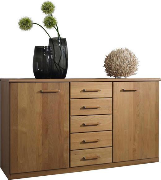 KOMMODE Erle massiv Erlefarben - Erlefarben/Alufarben, Basics, Holz/Holzwerkstoff (135/78/41cm) - Cantus