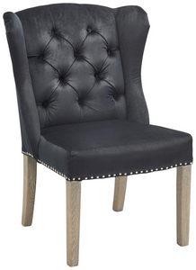 ÖRONLAPPSFÅTÖLJ - svart/ekfärgad, Lifestyle, metall/trä (63/95/68cm) - Ambia Home