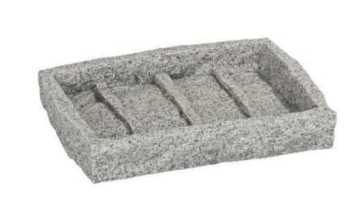 SEIFENSCHALE - Grau, Basics, Kunststoff (11/6,5/6,5cm)