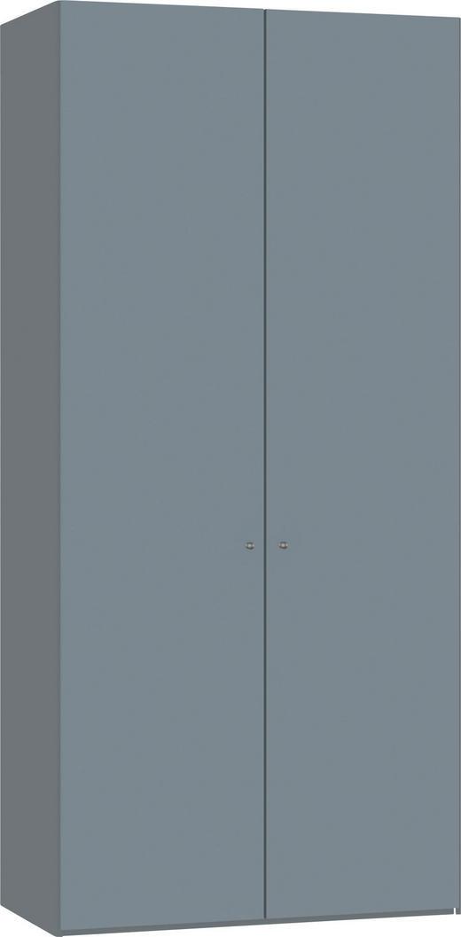 DREHTÜRENSCHRANK 2-türig Hellblau, Silberfarben - Silberfarben/Hellblau, Design, Glas/Holzwerkstoff (101,9/220/58,5cm) - Jutzler