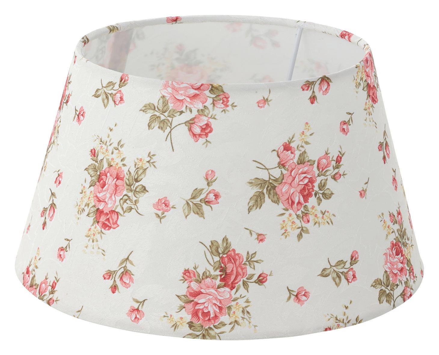 LEUCHTENSCHIRM  Rosa, Weiß  Textil  E27 - Rosa/Weiß, LIFESTYLE, Textil (25/14cm) - LANDSCAPE
