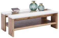 COUCHTISCH in Holzwerkstoff 110/65/40 cm - Eichefarben/Weiß, KONVENTIONELL, Holzwerkstoff (110/65/40cm) - Hom`in