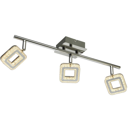 LED-STRAHLER - Weiß, Design, Kunststoff/Metall (48/11/8cm) - Novel
