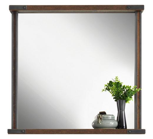 SPIEGEL 83/80/20 cm - Dunkelgrau/Braun, Trend, Glas/Holzwerkstoff (83/80/20cm) - Voleo