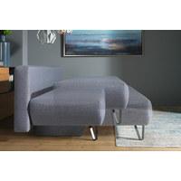ROZKLÁDACÍ POHOVKA, modrá, šedá, textil,  - šedá/modrá, Moderní, kov/textil (202/90/91cm) - Xora