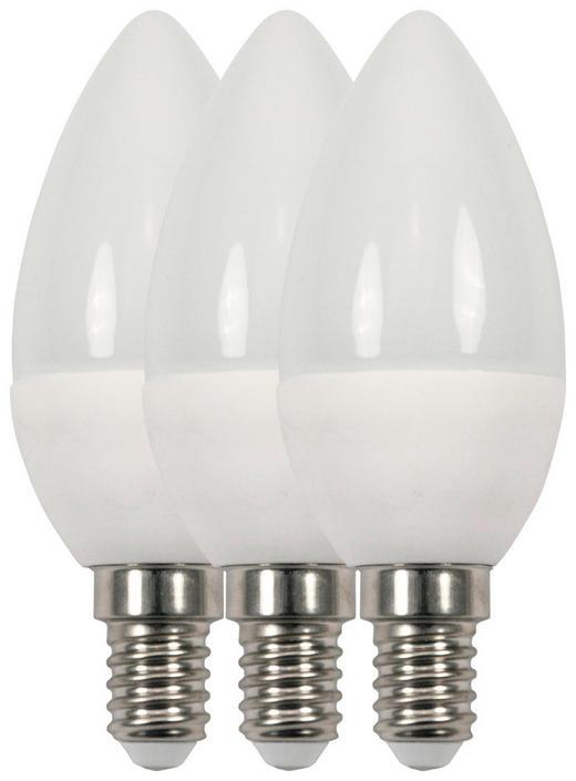 LED-Leuchtmittel E14 - Weiß, Basics, Kunststoff/Metall (3,8/10,2cm) - Boxxx