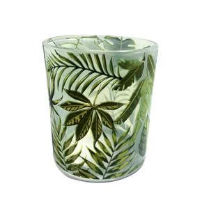 VÄRMELJUSGLAS - vit/grön, Lifestyle, glas (7/8cm) - Ambia Home