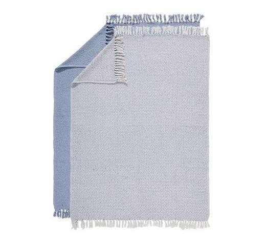 PLAID 2 ER SET 125/150 cm Blau, Hellblau  - Blau/Hellblau, Basics, Textil (125/150cm)