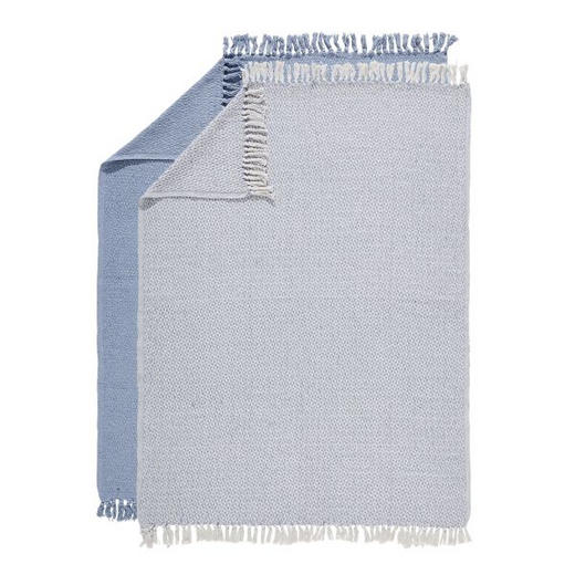 PLAID-SET, 2-TLG 125/150 cm Blau - Blau, Basics, Textil (125/150cm)