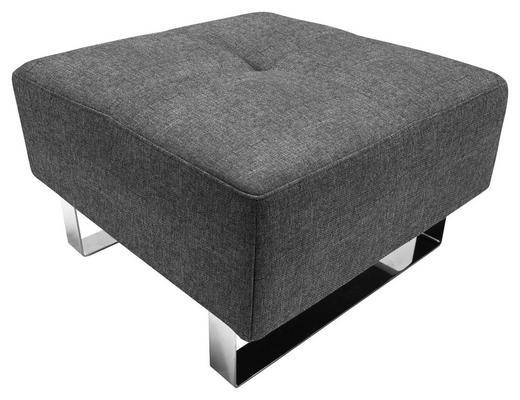 FUßBANK Grau - Grau, Design, Textil/Metall (65/41/65cm) - Innovation