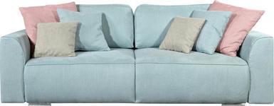 SCHLAFSOFA in Textil, Holzwerkstoff Hellblau  - Pink/Hellgrau, Design, Holzwerkstoff/Kunststoff (250/87/129cm) - Carryhome