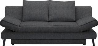 SCHLAFSOFA in Textil Anthrazit - Anthrazit/Schwarz, Design, Textil/Metall (200/85/90cm) - Xora