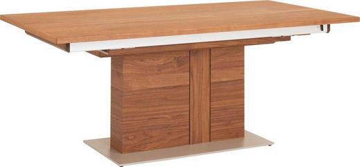 ESSTISCH in furniert Amerikanischer Nussbaum Edelstahlfarben, Nussbaumfarben - Edelstahlfarben/Nussbaumfarben, Design, Holz/Metall (190/100/76cm) - VENJAKOB