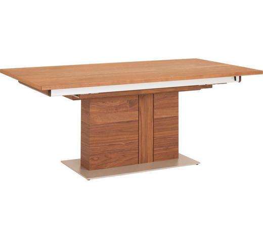 ESSTISCH in Holz, Metall 190/100/76 cm   - Edelstahlfarben/Nussbaumfarben, Design, Holz/Metall (190/100/76cm) - Venjakob