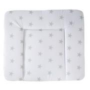 WICKELAUFLAGE Little Stars  - Weiß/Grau, Basics, Textil (85/75cm) - Roba