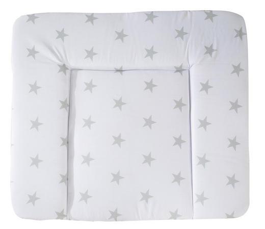 WICKELAUFLAGE Little Stars - Weiß/Grau, Textil (85/75cm) - Roba