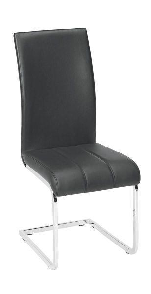 STOLICA - boje kroma/crna, Design, metal/tekstil (43/98/57cm) - Xora