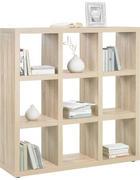 DĚLICÍ STĚNA - barvy dubu/barvy hliníku, Design, kompozitní dřevo/umělá hmota (123/124/35cm)